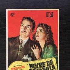 Folhetos de mão de filmes antigos de cinema: NOCHE DE PESADILLA - PROGRAMA DE CINE BADALONA C/P 1947. Lote 222284788