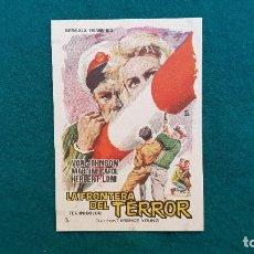 Flyers Publicitaires de films Anciens: PROGRAMA DE MANO CINE LA FRONTERA DEL TERROR (1963) CON CINE AL DORSO. Lote 222285386