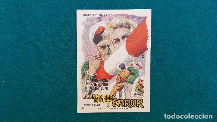 PROGRAMA DE MANO CINE LA FRONTERA DEL TERROR (1963) CON CINE AL DORSO (Cine - Folletos de Mano - Terror)