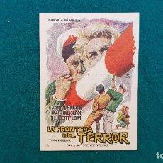 Cine: PROGRAMA DE MANO CINE LA FRONTERA DEL TERROR (1963) CON CINE AL DORSO. Lote 222285462