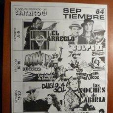 Cine: EL IMPERIO CONTRAATACA STAR WARS GUERRA GALAXIAS CONAN CABIRIA FOLLETO DE MANO CENTRICO BARCELONA. Lote 222291371