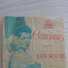 Cine: SARA MONTIEL.CANCIONES EL ULTIMO CUPLE.CIFESA.VALENCIA 1957. SIN PUBLICIDAD. Lote 222291465