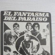 Cine: ANTIGUO PROGRAMA DE MANO? EL FANTASMA DEL PARAISO.PHANTOM PARADISE.REGIA FILMS.ARTURO GONZALEZ.. Lote 222292065