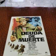 Folhetos de mão de filmes antigos de cinema: PROGRAMA DE MANO ORIG - DUDA DE MUERTE - SIN CINE IMPRESO AL DORSO. Lote 222296223