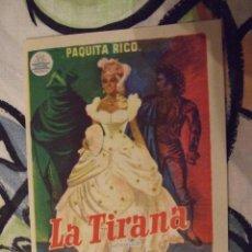 Cine: LA TIRANA - SENCILLO CON PUBLICIDAD SALON NOVEDADES - PERFECTO. Lote 222383730