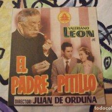 Cine: EL PADRE PITILLO - DOBLE CON PUBLICIDAD SALON NOVEDADES - PERFECTO. Lote 222384317