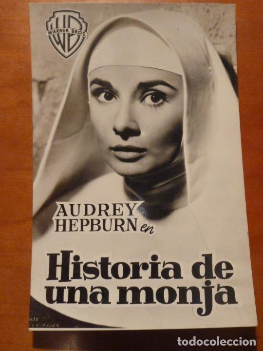 HISTORIA DE UNA MONJA AUDREY HEPBURN FOLLETO DE MANO ORIGINAL ESTRENO RARO (Cine - Folletos de Mano - Drama)