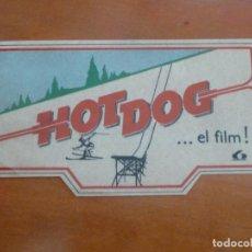 Cine: HOT DOG FOLLETO DE MANO ADHESIVO ORIGINAL ESTRENO LAUREN FILMS. Lote 222482986