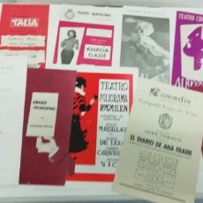 Cine: LOTE DE 13 PROGRAMAS DE MANO DE TEATRO. ORIGINALES Y EN BUEN ESTADO. TEATRO - CINE. Lote 222486312