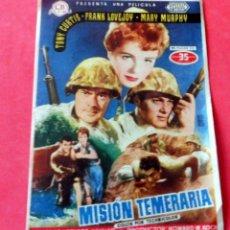 Cine: PROGRAMA DE CINE - MISIÓN TEMERARIA - CINE DORADO. Lote 222516198