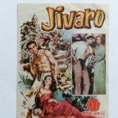 Cine: PROGRAMA DE CINE, JIVARO, CINE GARCIA BARBON - VIGO. Lote 222550695