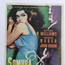 Cine: PROGRAMA DE CINE, SOMBRA EN LA NOCHE, GRAN CINEMA COCA, AÑO 1959. Lote 222552483