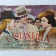 Cine: PROGRAMA DE CINE, CASTAÑUELA. Lote 222552750