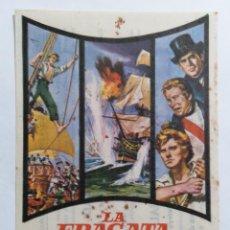 Cine: PROGRAMA DE CINE, LA FRAGATA INFERNAL,, CINE PRINCIPAL, AÑO 1965. Lote 222553486