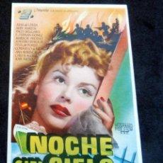 Foglietti di film di film antichi di cinema: PROGRAMA DE CINE - NOCHE SIN CIELO - CINE CARMEN DE PALAMÓS - 1948. Lote 222555763