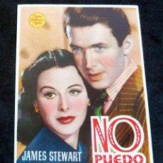 Flyers Publicitaires de films Anciens: PROGRAMA DE CINE - NO PUEDO VIVIR SIN TI - CINE CARMEN DE PALAMÓS 1947. Lote 222556082