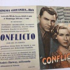Cine: CONFLICTO - PROGRAMA DOBLE - REF. FM-023. Lote 222559716