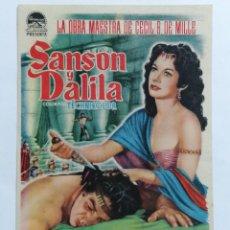Cine: PROGRAMA DE CINE, SANSON Y DALILA,, CINE IDEAL - BENIMACLET. Lote 222560642