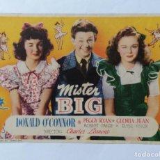 Cine: PROGRAMA DE CINE, MISTER BIG,, CINELANDIA. Lote 222560693