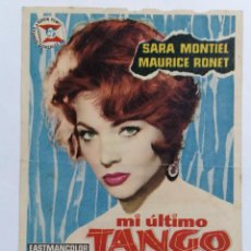 Cine: PROGRAMA DE CINE, MI ULTIMO TANGO,, CINE MONTECARLO, AÑO 1961. Lote 222561736