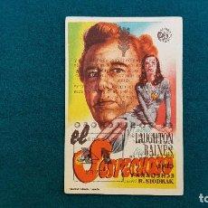 Cine: PROGRAMA DE MANO CINE EL SOSPECHOSO (S/F) CON CINE AL DORSO. Lote 222568541