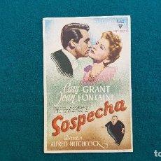 Cine: PROGRAMA DE MANO CINE SOSPECHA (1944) CON CINE AL DORSO. Lote 222568616