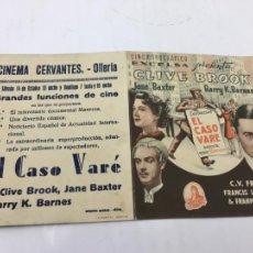 Cine: EL CASO VARÉ - PROGRAMA CON DOBLE - REF. FM-019. Lote 222573891