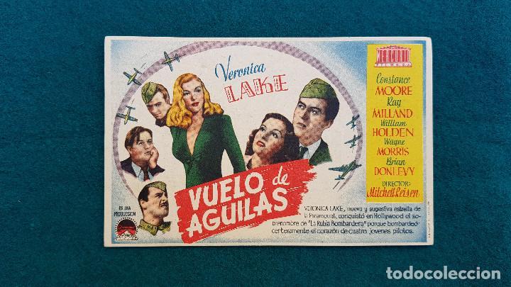 PROGRAMA DE MANO CINE VUELO DE AGUILAS (1946) CON CINE AL DORSO (Cine - Folletos de Mano - Bélicas)