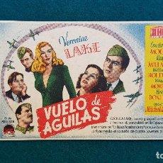 Cine: PROGRAMA DE MANO CINE VUELO DE AGUILAS (1946) CON CINE AL DORSO. Lote 222574488