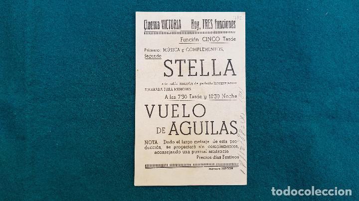 Cine: PROGRAMA DE MANO CINE VUELO DE AGUILAS (1946) CON CINE AL DORSO - Foto 2 - 222574488