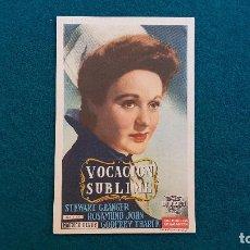 Flyers Publicitaires de films Anciens: PROGRAMA DE MANO CINE VOCACION SUBLIME (1947) CON CINE AL DORSO. Lote 222576762
