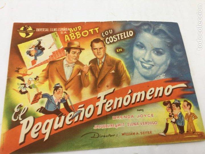 EL PEQUEÑO FENOMENO - PROGRAMA DE CINE - REF. FM-016 (Cine - Folletos de Mano - Comedia)
