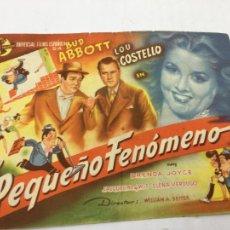 Cine: EL PEQUEÑO FENOMENO - PROGRAMA DE CINE - REF. FM-016. Lote 222579962