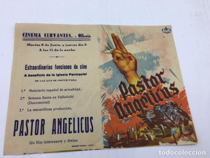 PASTOR ANGELICUS - PROGRAMA CON DOBLE DE CINE - REF. FM-013 (Cine - Folletos de Mano - Documentales)