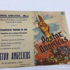 Cine: PASTOR ANGELICUS - PROGRAMA CON DOBLE DE CINE - REF. FM-013. Lote 222584643