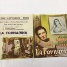Cine: LA FORNARINA - PROGRAMA CON DOBLE DE CINE - REF. FM-012. Lote 222586061
