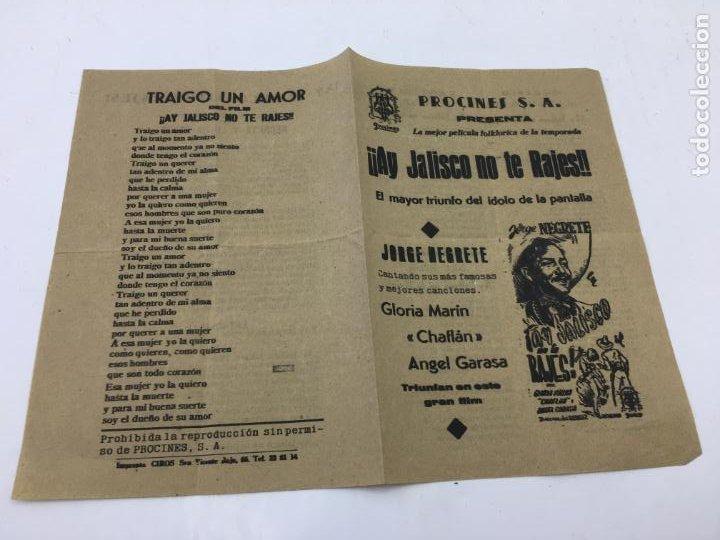 Cine: ¡¡AY JALISCO NO TE RAJES!! - CON JORGE NEGRETE Y CANCINERO EN EL INTERIOR - REF. FM-010 - Foto 2 - 222594031