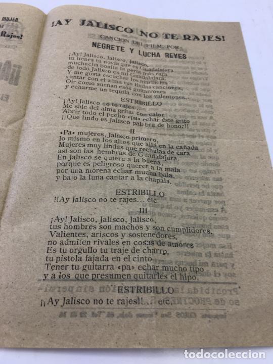 Cine: ¡¡AY JALISCO NO TE RAJES!! - CON JORGE NEGRETE Y CANCINERO EN EL INTERIOR - REF. FM-010 - Foto 3 - 222594031