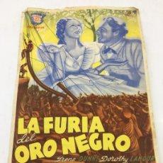 Cine: LA FURIA DEL ORO NEGRO - PROGRAMA SIN DOBLE - REF. FM-009. Lote 222599437
