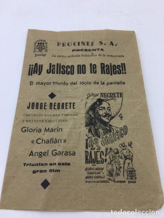 ¡¡AY JALISCO NO TE RAJES!! DE JORGE NEGRETE - FOLLETO DE MANO - REF. FM-008 (Cine - Folletos de Mano - Westerns)