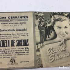Cine: ESCUELA DE SIRENAS - FOLLETO DE MANO CON DOBLE - REF. FM-007. Lote 222603913