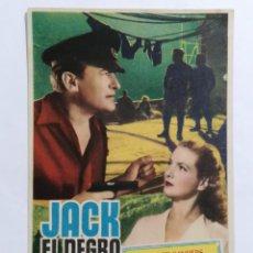 Cine: PROGRAMA DE CINE, JACK EL NEGRO, SIN PUBLICIDAD. Lote 222603968
