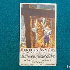 Cine: PROGRAMA DE MANO CINE MARCELINO PAN Y VINO (S/F) CON CINE AL DORSO. Lote 222608795