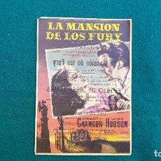 Cine: PROGRAMA DE MANO CINE LA MANSION DE LOS FURY (1965) CON CINE AL DORSO. Lote 222609268