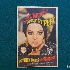 Folhetos de mão de filmes antigos de cinema: PROGRAMA DE MANO CINE TUSET STREET (1969) CON CINE AL DORSO. Lote 222610946