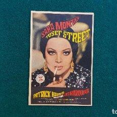 Cine: PROGRAMA DE MANO CINE TUSET STREET (1969) CON CINE AL DORSO. Lote 222610971