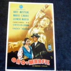 Foglietti di film di film antichi di cinema: PROGRAMA DE CINE - ORO Y MARFIL - CINE BENLLIURE - 1948. Lote 222625161