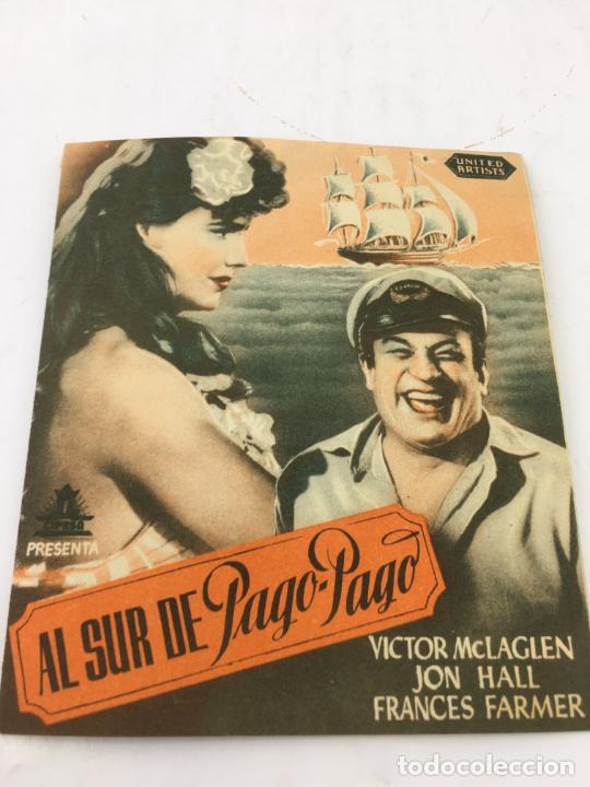 AL SUR DE PAGO-PAGO - FOLLETO DE MANO CON DOBLE - REF. FM-034 (Cine - Folletos de Mano - Comedia)