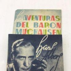 Cine: LAS AVENTURAS DEL BARON MUCHAUSEN - FOLLETO DE MANO DOBLE - REF. FM-029. Lote 222651220