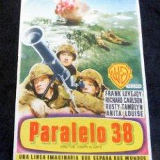 Cine: PROGRAMA DE CINE - PARALELO 38 - CINE CARMEN DE PALAMÓS. Lote 222652802